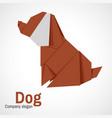 logo origami dog vector image