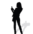 woman art silhouete vector image