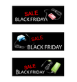 Adaptor Power Supply on Black Friday Sale Banners vector image vector image