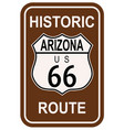 arizona historic route 66 vector image vector image