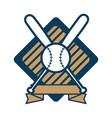 baseball ball and bats vector image