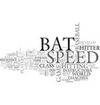 bat speed what it is and how to get it text word vector image vector image
