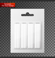 battery aa blister packed vector image