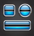 Botswana flag glass buttons vector image