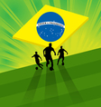 Brazil soccer background - soccer player and ball vector image vector image