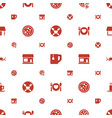 cafe icons pattern seamless white background vector image vector image