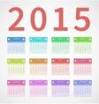 Calendar annual 2015 in flat design vector image vector image