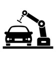 car robot factory icon simple style