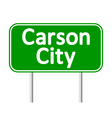 Carson City green road sign vector image vector image