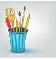 cartoon pencil set vector image vector image
