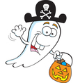 Cartoon Trick or Treat Ghost vector image vector image
