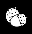 chestnut dark mode glyph icon vector image vector image