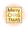 Christmas card on abstract background vector image vector image