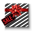 christmas sale tag with gift box vector image