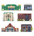 city public buildings set vector image vector image
