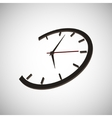 clock time arrow second minute hour vector image vector image