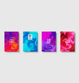 colorful abstract geometric background liquid vector image