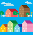 Colorful house icon flat style vector image vector image