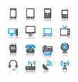 Communication device icons reflection vector | Price: 1 Credit (USD $1)