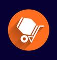 concrete mixer icon button logo symbol concept vector image vector image