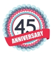 Cute Template 45 Years Anniversary with Balloons vector image vector image