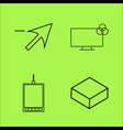 design elements simple linear outline icon set vector image vector image