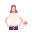 egg donation healthy young woman donating own egg vector image vector image