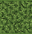 exotic abstract green tropical jungle vector image vector image