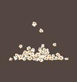 falling popcorn movie premiere popular junk food vector image