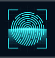 fingerprint scanner concept digital and cyber vector image vector image