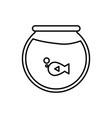 fishbowl icon image vector image