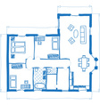 Floor plan of house doodle style vector image vector image