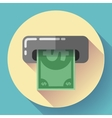 Getting money from an ATM bankomat card symbol vector image vector image