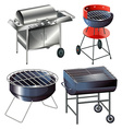 Grilling sets vector image vector image