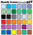 handy icons blank set vector image vector image