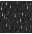 Heavy vertical rain dark seamless pattern nature vector image vector image