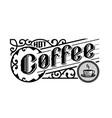 hot coffee vintage style logo emblem vector image vector image