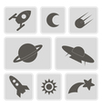 icons with symbols of interplanetary missions vector image