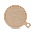 Isolated Cutting board White Oak Wood Pizza Tray vector image vector image