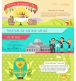 Italy National Festivals in Flat Style Design vector image vector image