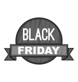 Label black friday icon gray monochrome style vector image