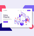 landing page template of online shopping concept vector image vector image