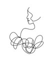 line drawing a beautiful woman 10 vector image vector image