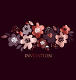 luxury concept floral pattern vector image vector image