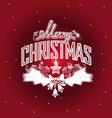 Merry Christmas openwork design vector image vector image