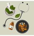 natural alternative medicine traditional vector image