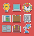 office elements related icons vector image
