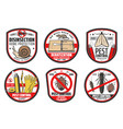 pest control icons insects disinfection service vector image