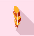 quill feather icon flat style vector image