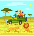safari tourism in africa animals and wildlife vector image vector image